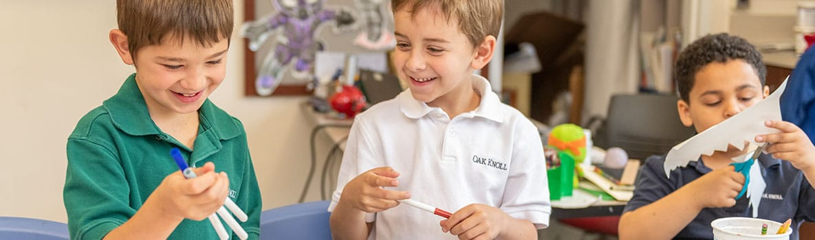 Students in grades 1-2 in Oak Knoll's Lower School.