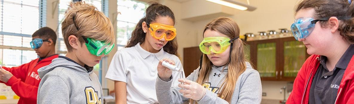 Lower School students in science class