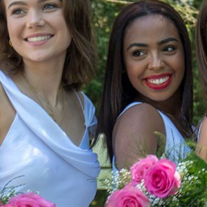 Upper School girls on commencement day.