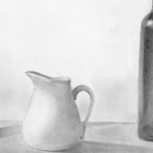 graphite drawing by Mary Kate Vowells '21