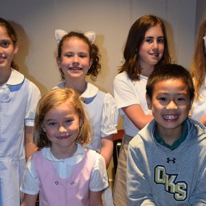 Lower school students donate money to Notre Dame Cathedral rebuild.