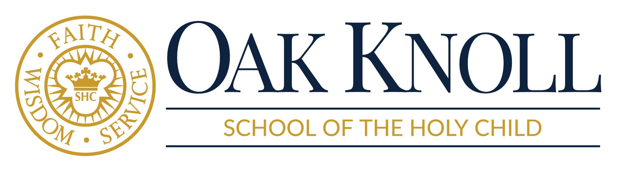 oak knoll horizontal logo for web over white
