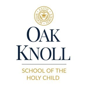 oak knoll vertical logo over white