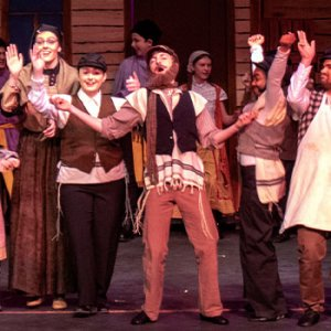 Upper School students perform fiddler on the roof