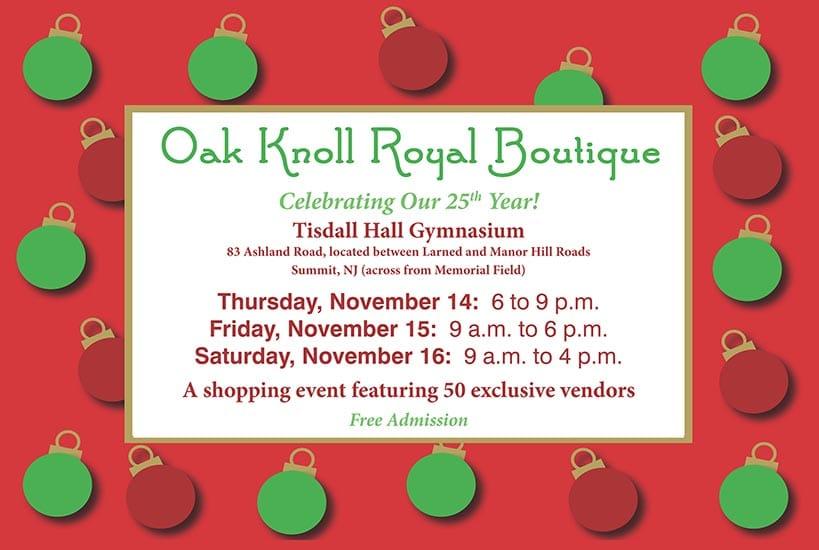 Oak Knoll Royal Boutique postcard