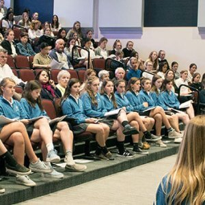 Upper School students lead a prayer service
