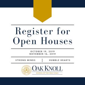 oak knoll upper school open house banner
