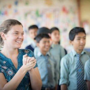 CNN Hero Maggie Doyne with children in Nepal