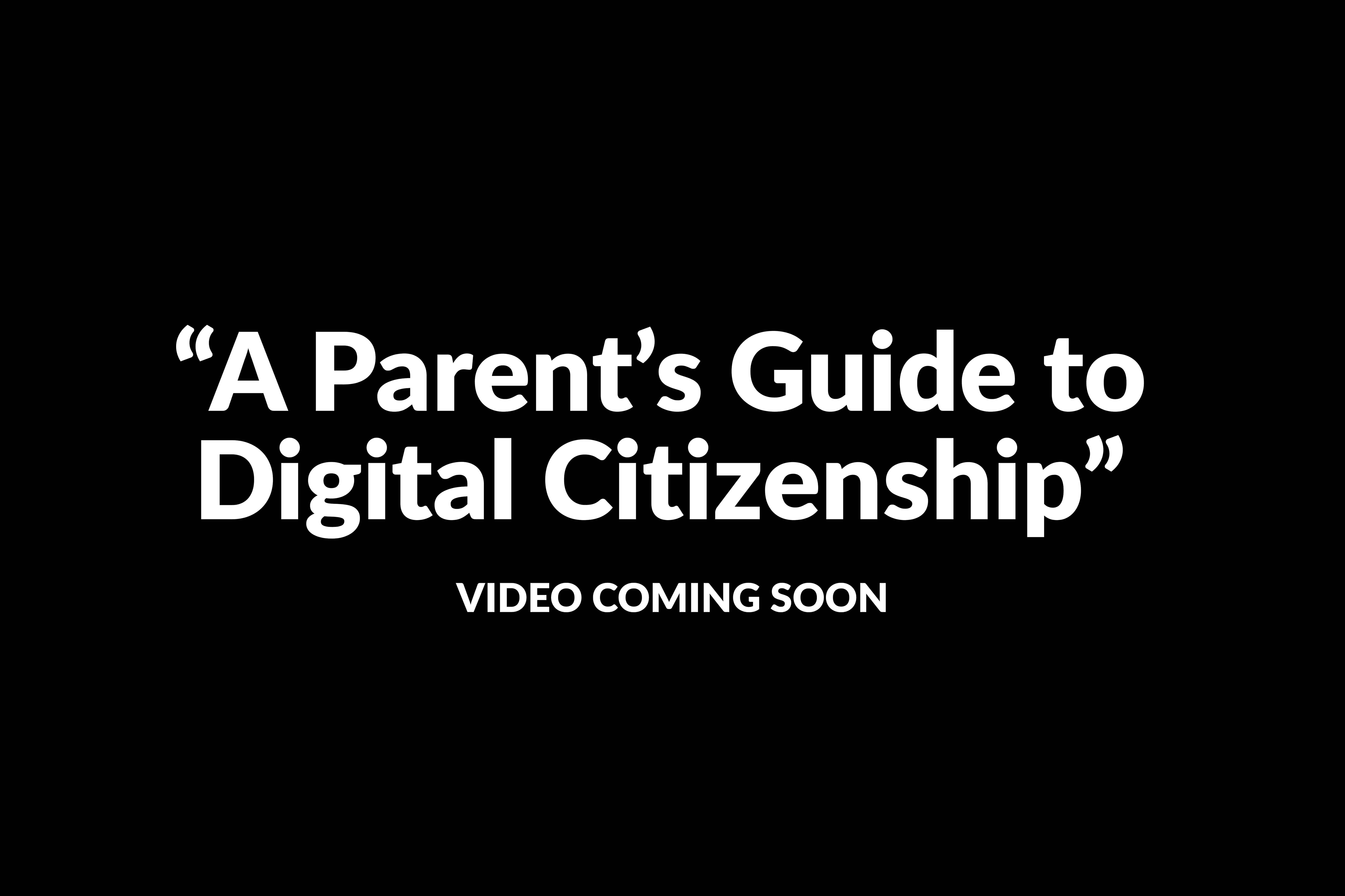 digital citizenship video teaser