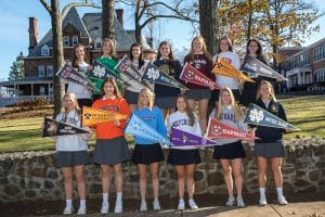 oak knoll seniors with their college designations for athletics