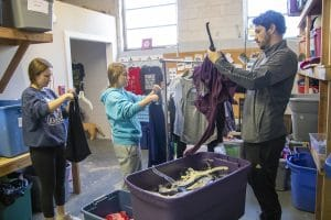 Students and faculty organize clothing donations