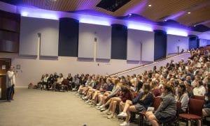 CNN Hero Maggie Doyne addresses students