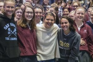 CNN Hero Maggie Doyne poses for photo with students