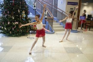 Two ballet dancers perform