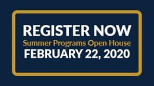 summer programs open house button