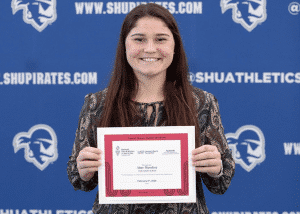 Aine Maseker '20 earns the 2020 Women in Sports Award