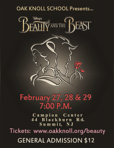oak knoll beauty and the beast poster