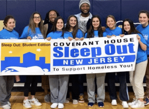 a picture of Oak Knoll students during the Covenant House Sleep Out