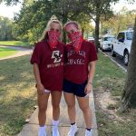 oak knoll senior soccer players organize red bandanna run for charity.