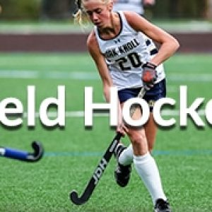 Menu Button for Field Hockey, includes image of field hockey player