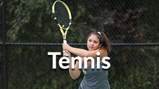 Tennis team menu button, includes tennis player image